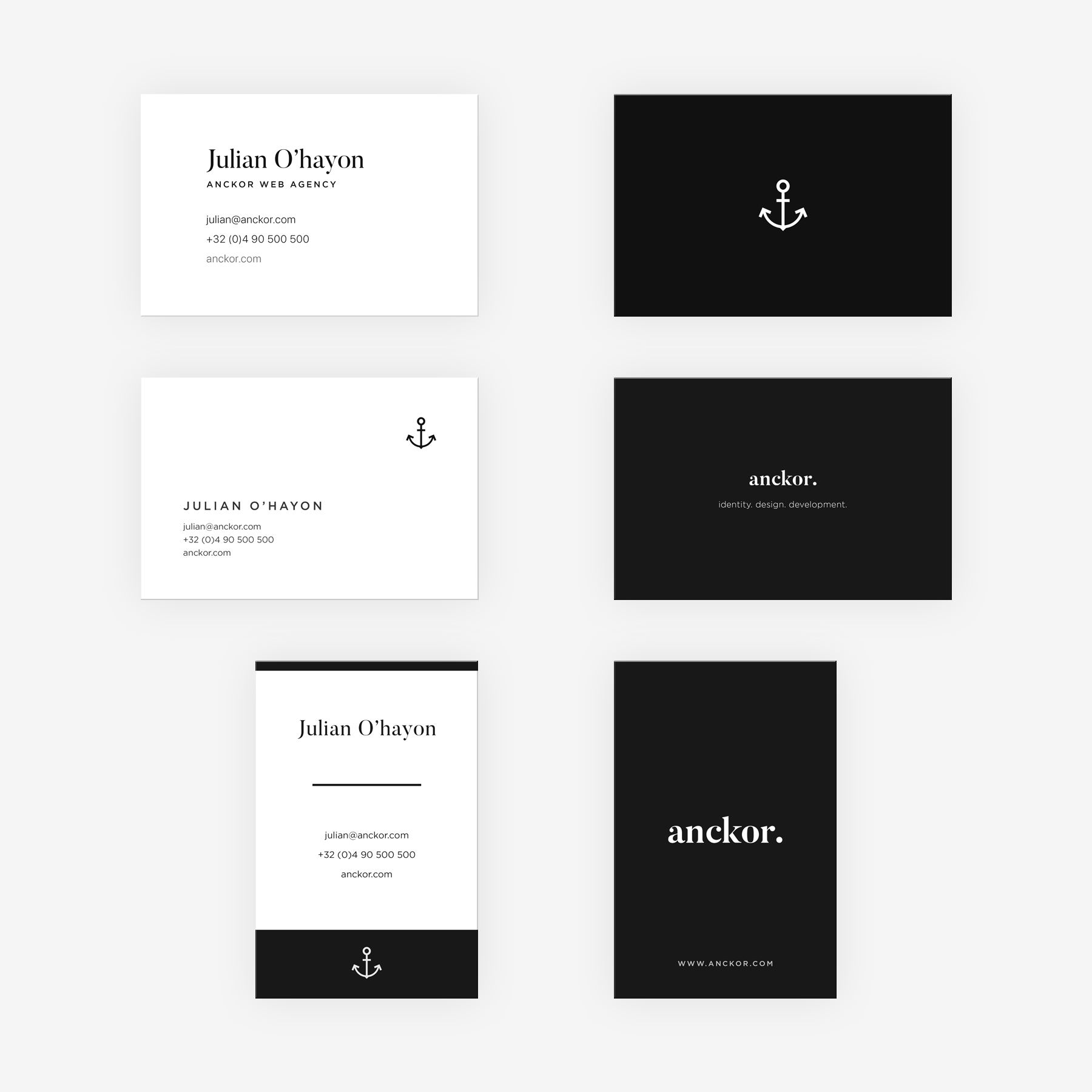 Anckor | Minimal business cards